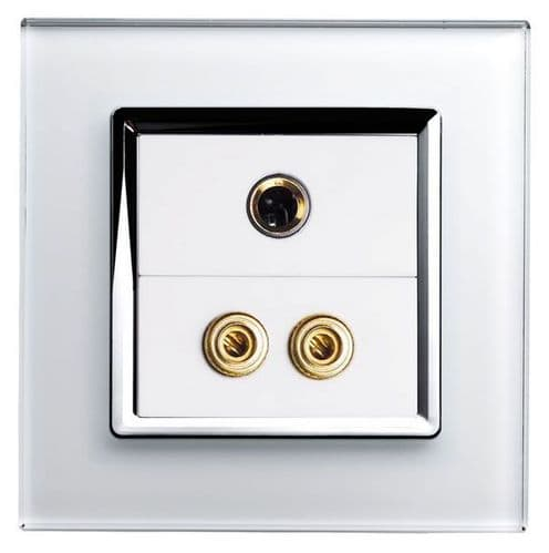 RetroTouch AUDIO / MIC Socket White Glass CT 00290
