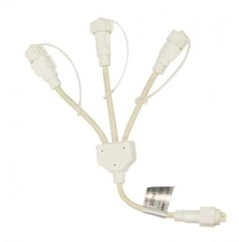 ConnectPro MV057 3 Way White Connector, Connectable