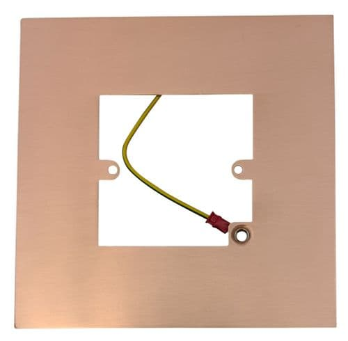 G&H 809RG Rose Gold Finger Plate Surround 152mm x 152mm for Single Plate