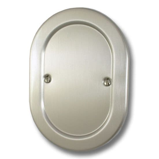 G&H Oval Plate Satin Nickel