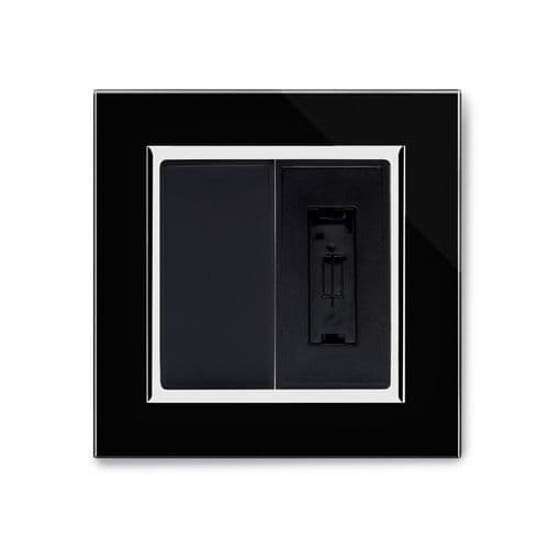 RetroTouch 13A Unswitched Fused Spur Black Glass CT 04322