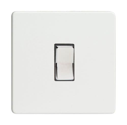 Varilight XDQR1S Screwless Premium White 1 Gang 10A 1 or 2 Way Retractive Light Switch