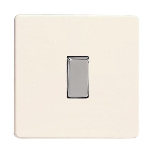 Varilight XDY1S.PD Screwless Primed 1 Gang 10A 1 or 2 Way Rocker Light Switch