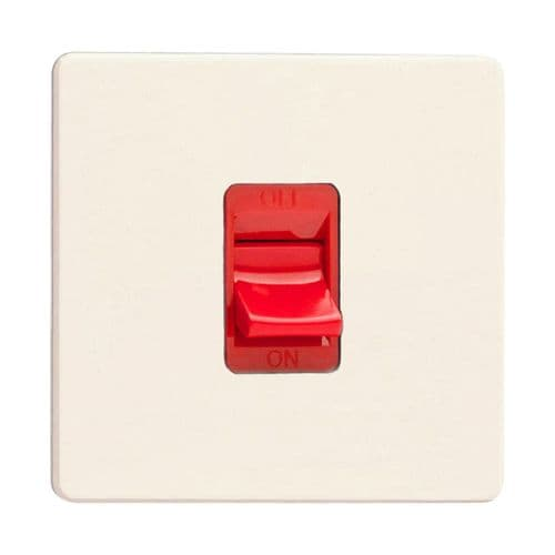 Varilight XDY45SS.PD Screwless Primed 45A DP Cooker Switch Single Plate