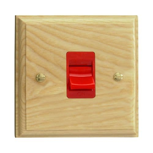 Varilight XK45SAW Kilnwood Ash 45A DP Cooker Switch Single Plate