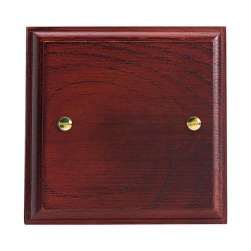 Varilight XKSBM Kilnwood Mahogany 1 Gang Single Blank Plate