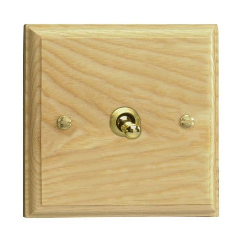 Varilight XKT1A Kilnwood Ash 1 Gang 10A 1 or 2 Way Toggle Light Switch