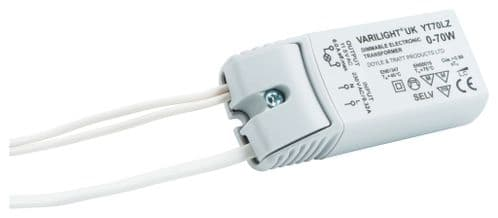 Varilight YT70LZ Lighting Transformer 0-70VA Dimmable Low Voltage (with Trailing Leads)