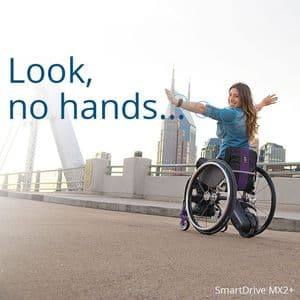 SmartDrive MX2+ powerdrive for wheelchairs