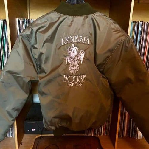 Amnesia House - Left Breast & Back Logo - MA1 - Jacket
