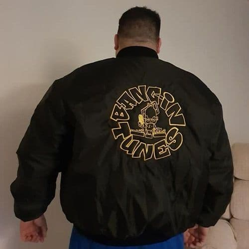 Bangin Tunes - Back Gold Logo - MA1 - Jacket