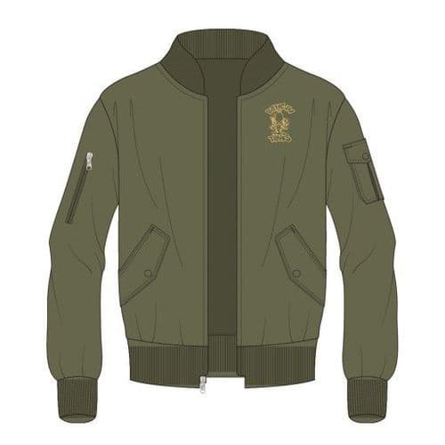 Bangin Tunes - Left Breast & Back Logo - MA1 - Jacket - Olive