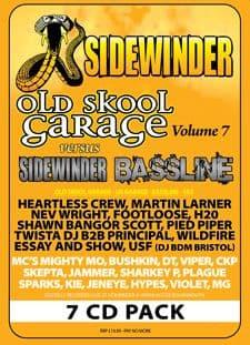 Sidewinder Old Skool Garage Volume 7 Vs Sidewinder Bassline CD Pack