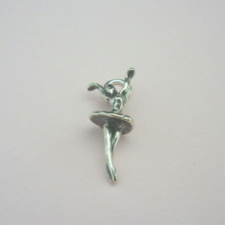Ballerina Charm, Stg silver on Lobster Clasp, Split Ring or Bail