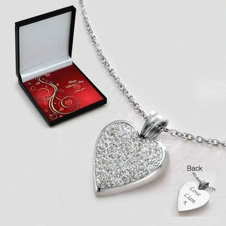 Beautiful Valentines Heart Necklace with Engraving