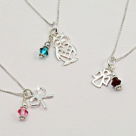 Birthstone Necklace with Choice of Pendant