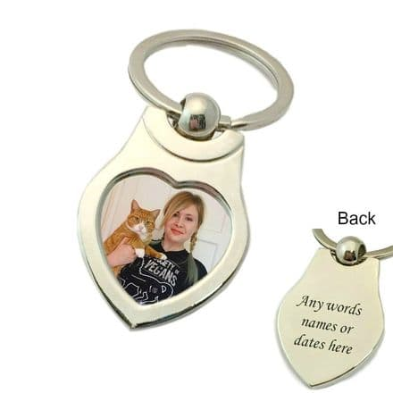 Cat Photo Personalised Key Ring