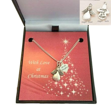 Christmas Angel Necklace for Girls, Sister, Daughter, Niece etc