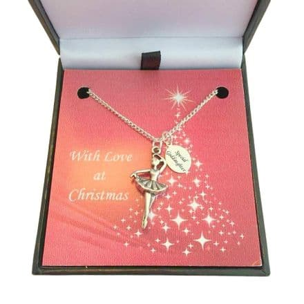 Christmas Necklace for Girls, Ballerina for Sister, Daughter, Niece etc