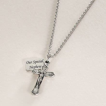 Crucifix Necklace with Personalised Engraving
