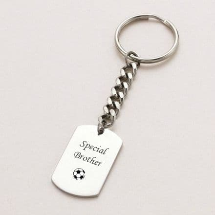 Dogtag Key Ring Engraved with Words and Symbols