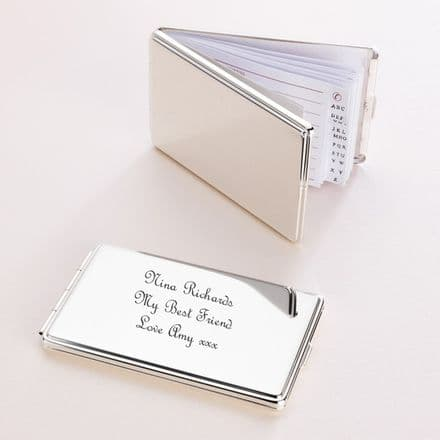 Engraved Address Book