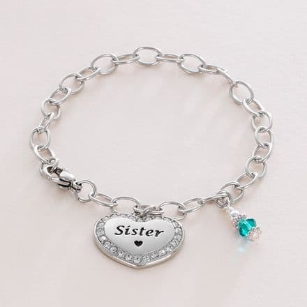 Engraved Bracelet with Choice of Charms