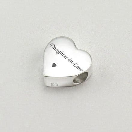 Engraved Charm Bead, Daughter-in-Law, Stg Silver