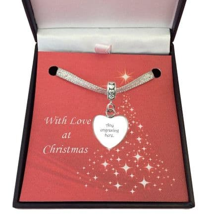 Engraved Christmas Gift Charm, to Fit Pandora