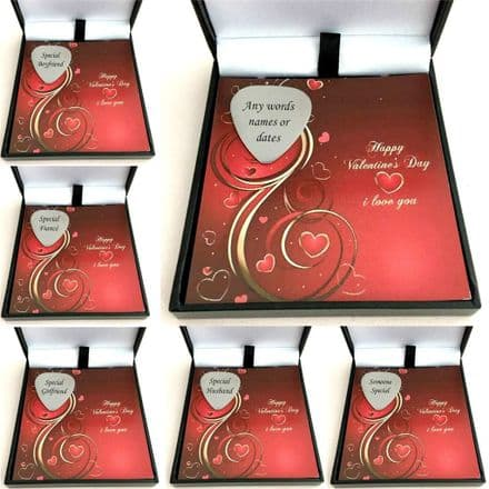 Engraved Guitar Pick, Plectrum in Valentines Gift Box