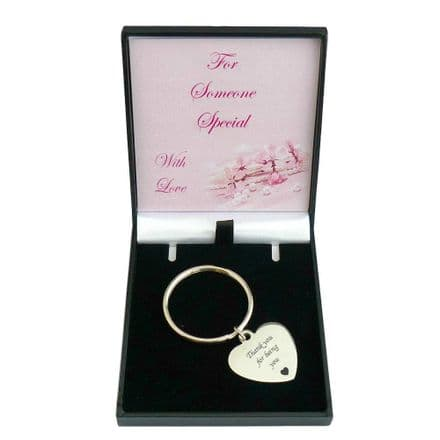 Engraved Keyring for a Woman or Girl  in a Special Gift Box