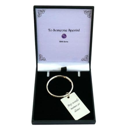 Engraved Keyring for Man or Boy in Special Gift Box