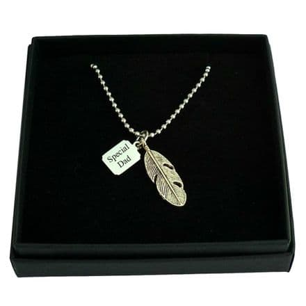 Feather Necklace with Engraving