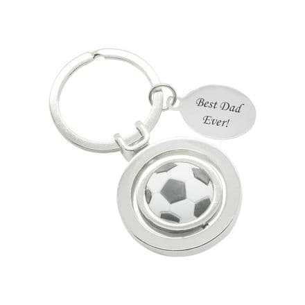 Football Key Ring with Engraving