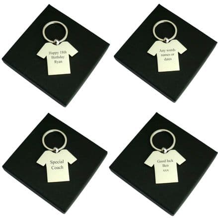 Football Shirt Key Ring with Engraving