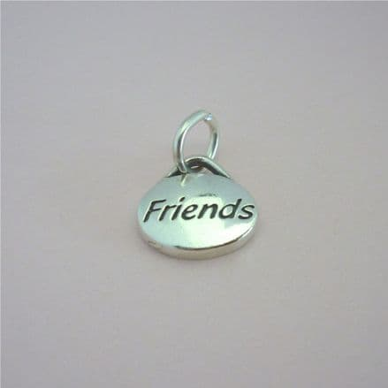 Friends Charm, Sterling silver on Lobster, Ring or Bail