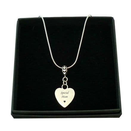 Heart Necklace with Personalised Engraving