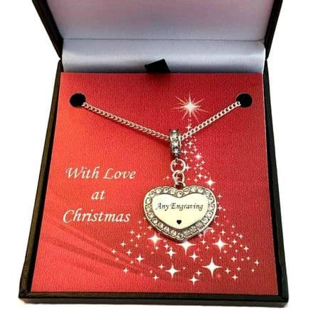 Necklace for Christmas with Personalised Engraving