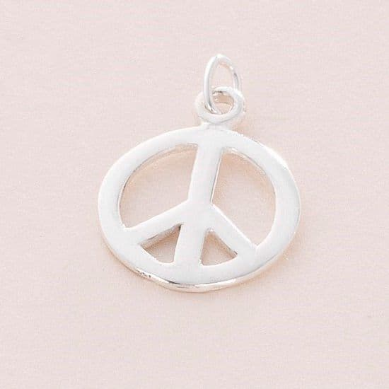 Peace Charm, Sterling silver | Charming Engraving
