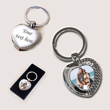 Permanent Image Heart Key Ring
