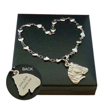 Personalised Horse Head Bracelet with Engraving for Women & Girls