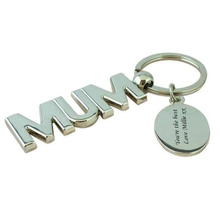 Personalised Mum Keyring with Engraving
