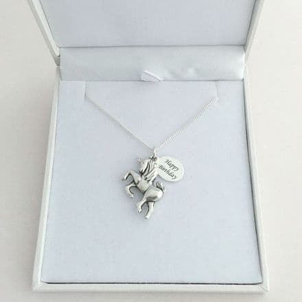 Personalised Necklace with Unicorn Charm
