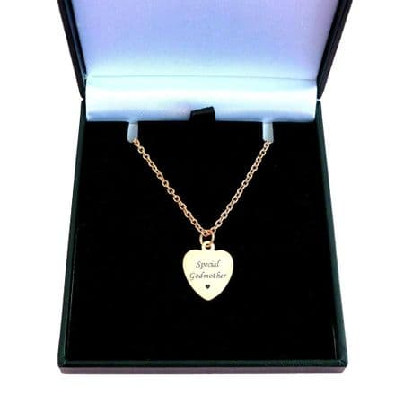 Rose Gold Necklace with Personalised Engraving on Heart