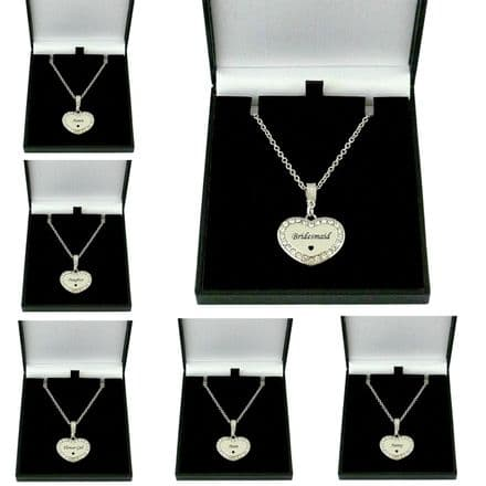 Sparkly Heart Necklace for Mum, Sister, Daughter etc