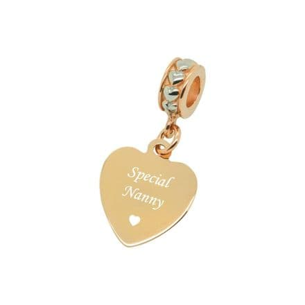 Special Nanny Charm, Rose Gold & Silver
