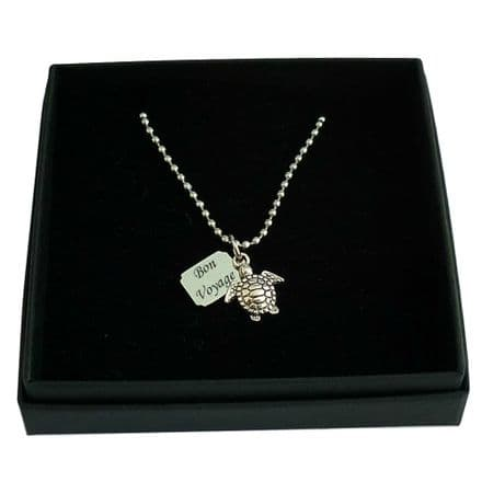 Turtle Necklace with Engraving