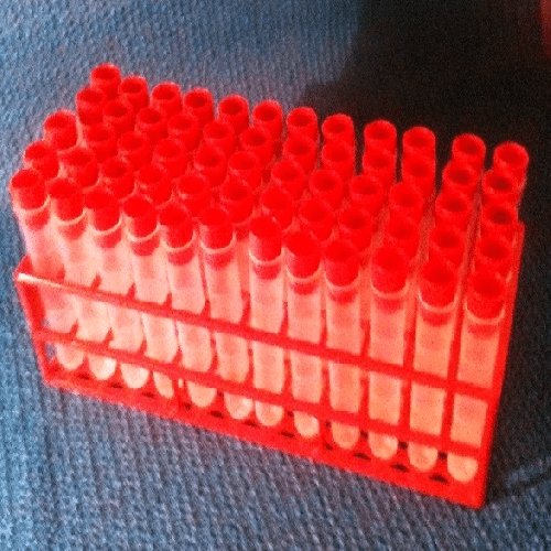 10ml Polypropylene Test Tubes with Caps and Tray (Set of 60)