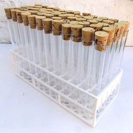 20ml Tubes with Corks and Tray