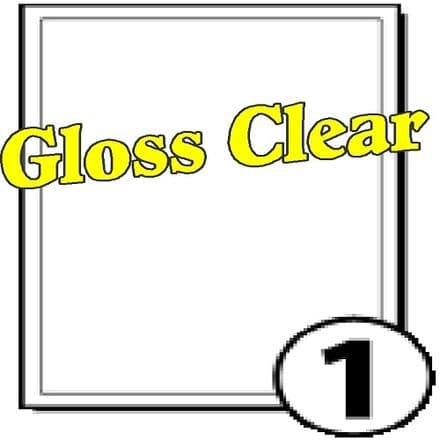 A4 Gloss Clear Polyester Labels (1 per sheet)